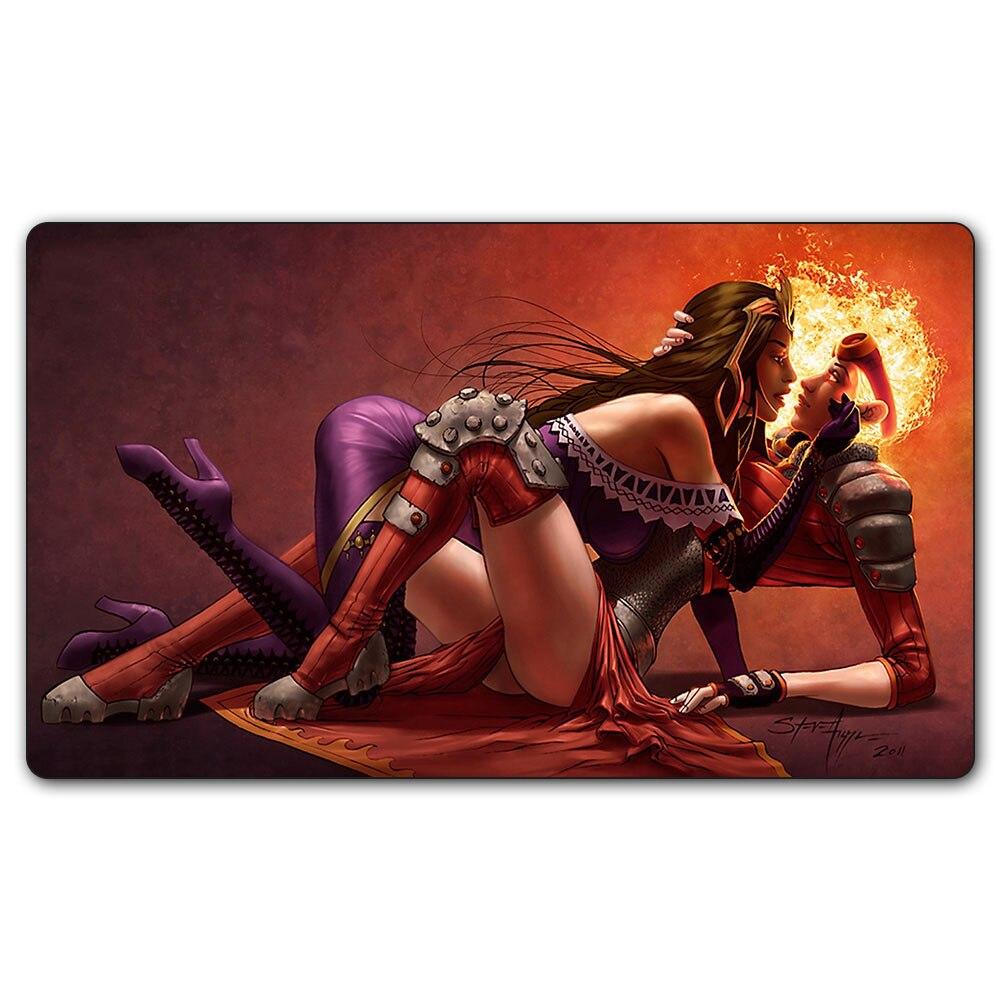 Playmat mágico de liliana vess/fantasia/irritado/sexy liliana 35x60 cm para jogos de tabuleiro