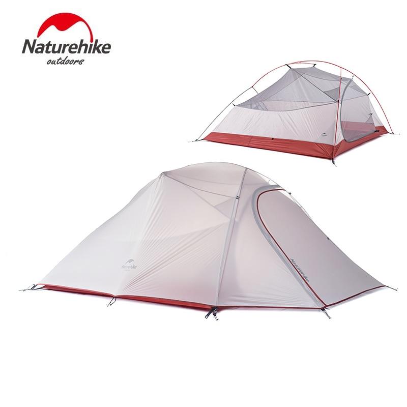 Nature randonnée 3 personnes ultra-léger tente Camping Double couche tente en plein air randonnée pique-nique étanche tente NH15T003-T - 4