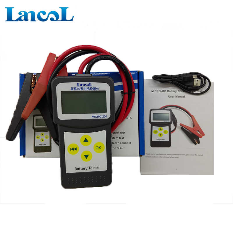 LANCOL MICRO-200 Digital 12V CCA Car Battery Load Tester Battery Analyzer  With Printing Function Car Bad Cells Diaglostic