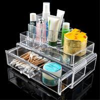 WITUSE Cristal Acrylique Tiroir Type Bijoux Boîte De Rangement De Bureau Transparent Maquillage Cosmétique Organisateur Spécial Cadeau De Noël