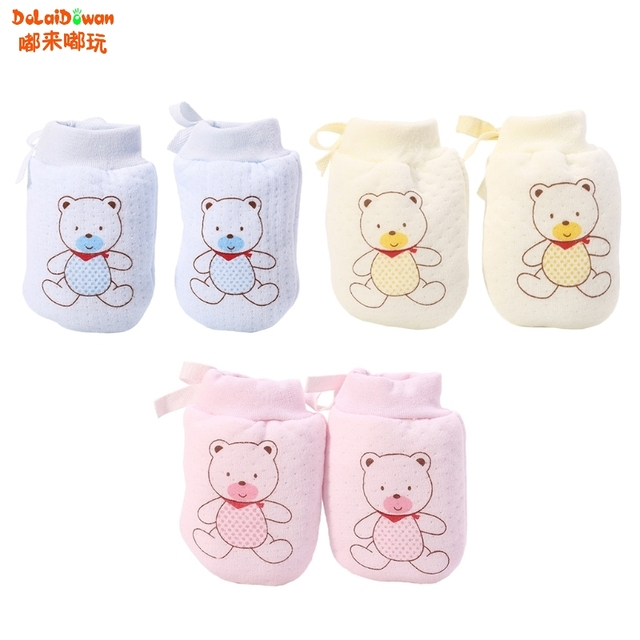 e9c1f9d3a Baby Anti Scratching Gloves baby Mittens Glove Organic Cotton Lovely ...
