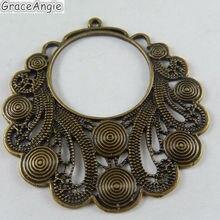 4 шт., античное бронзовое ожерелье из сплава, подвески, спиральные круги, воротник, винтажные подвески в форме полумесяца, фурнитура для изготовления ювелирных изделий, 51015