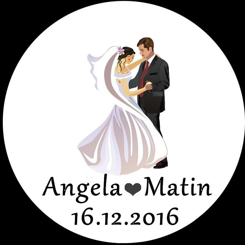 100pcs Personalized Wedding Stickers Craft packaging Seals Kraft Labels Sticker Wedding Decoration Boda Sticker Seals Casamento