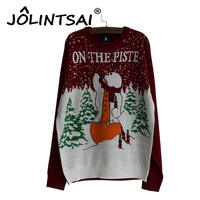 2016 Men S Fashion Snowman Print Sweater Men Cotton Slim Pull Homme O Neck Long Sleeve