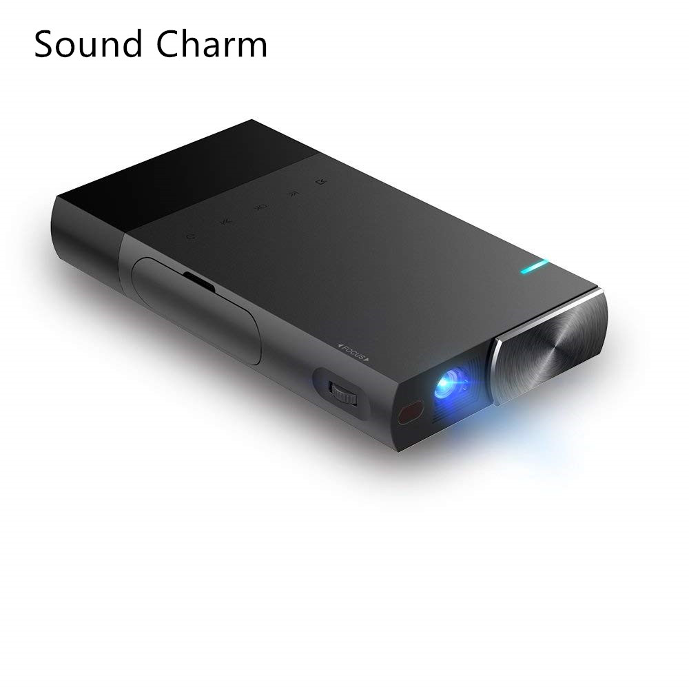 Sound Charm Mini DLP Portable Projector 2000Lumens Sync Wired Display For1080P Home Theater With HDMI USB TF poner saund dlp100w pocket hd portable dlp projector micro wireless multi screen mini led battery hdmi usb portable home cinema
