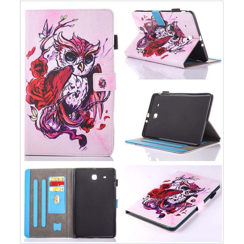 Moda Animal Flip PU cuero sFor Samsung Galaxy Tab E 9.6 para Samsung - Accesorios para tablets - foto 4