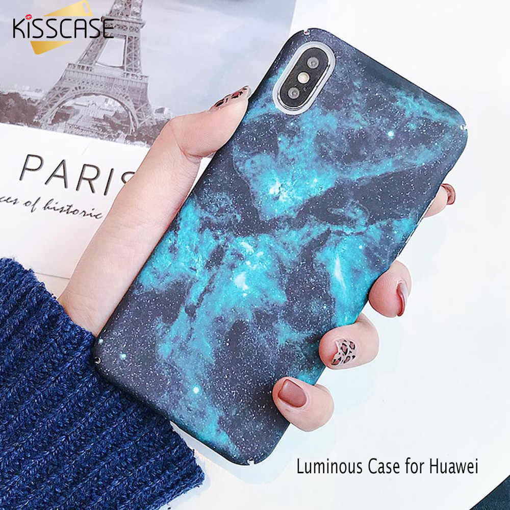 KISSCASE Starshine Luminous Sticker Case for Huawei Mate 10/20 Lite funda Water Sticker Case for Huawei P20 10 Honor 8X 9 Cover