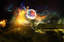 outer space science fiction photo manipulation cloth silk art wall poster and prints