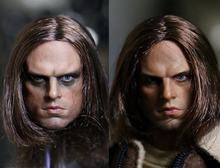 1:6 scale male Figure Captain America Winter Soldier Bucky Barnes head shape for 12″ Action figure doll,not include body;clothes