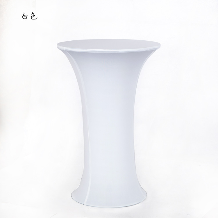 New Arrival Stretch Bistro Table Cloth Lycra Spandex Tail Covers Hotel Bar Wedding Decoration