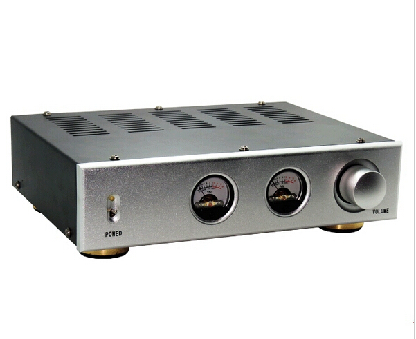 ФОТО NEW VU meter Amplifier Chassis Aluminum Panel Iron Enclosure can install Level meter for amp DIY