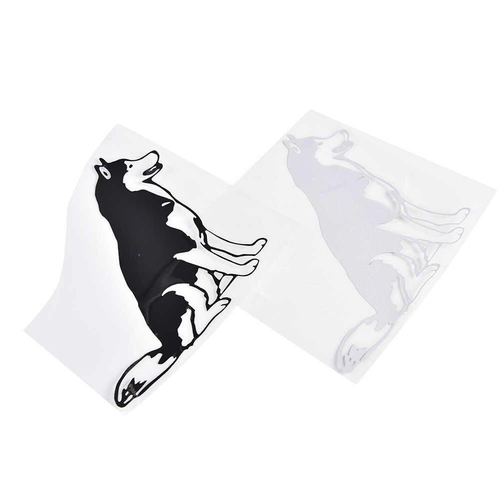 HUSKY SIBERIANO 1PC adesivos de carro preto branco estilo do carro decalque acessórios de cobre parede janelas de automóveis motocicleta 12CM * 12CM