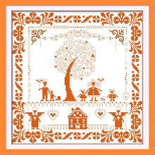 Joy Sunday,Happy tree,cross stitch embroidery set,cross stitch pattern,embroidery patterns,Needlework counted cross-stitch kit joy sunday wine cross stitch embroidery set cross stitch pattern needlework counted cross stitch patterns chinese cross stitch