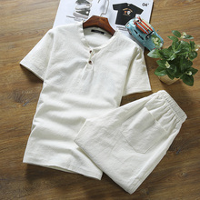 2pcs Men Set T Shirts + Shorts Summer Brand Mens Clothing Tracksuit Light Breathable Casual Beach Tee Shirt homme