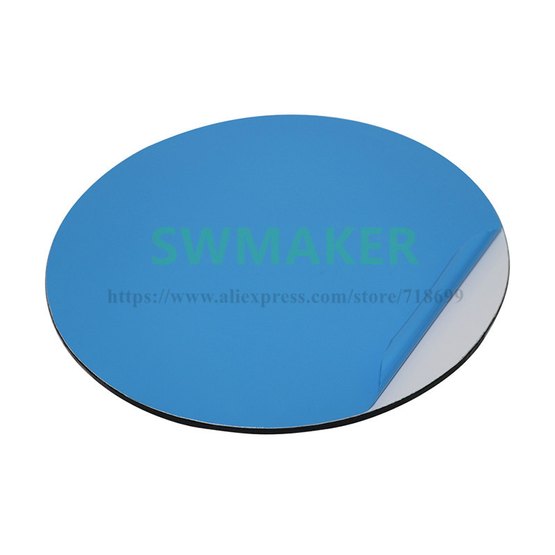 Round 200 240mm 400Deg Upgrade Kossel 3D Printer Self adhesive Build Surface Glass plate compatible DIY