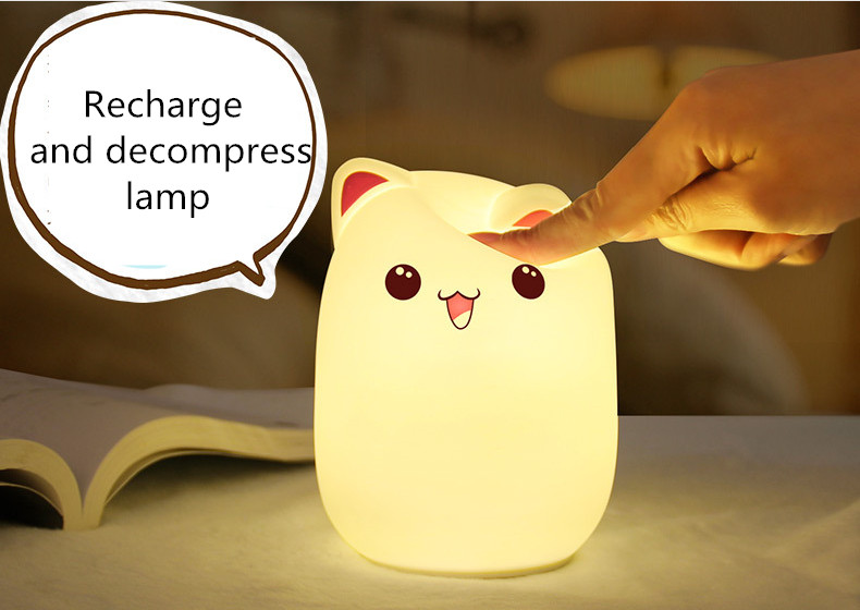 Led Table Lamps Led Lamps Logical Silicone Bear Night Light Luminaria Night Lamp Novelty Led Cute Touch Nursery Nightlight For Baby Children Gift Decor