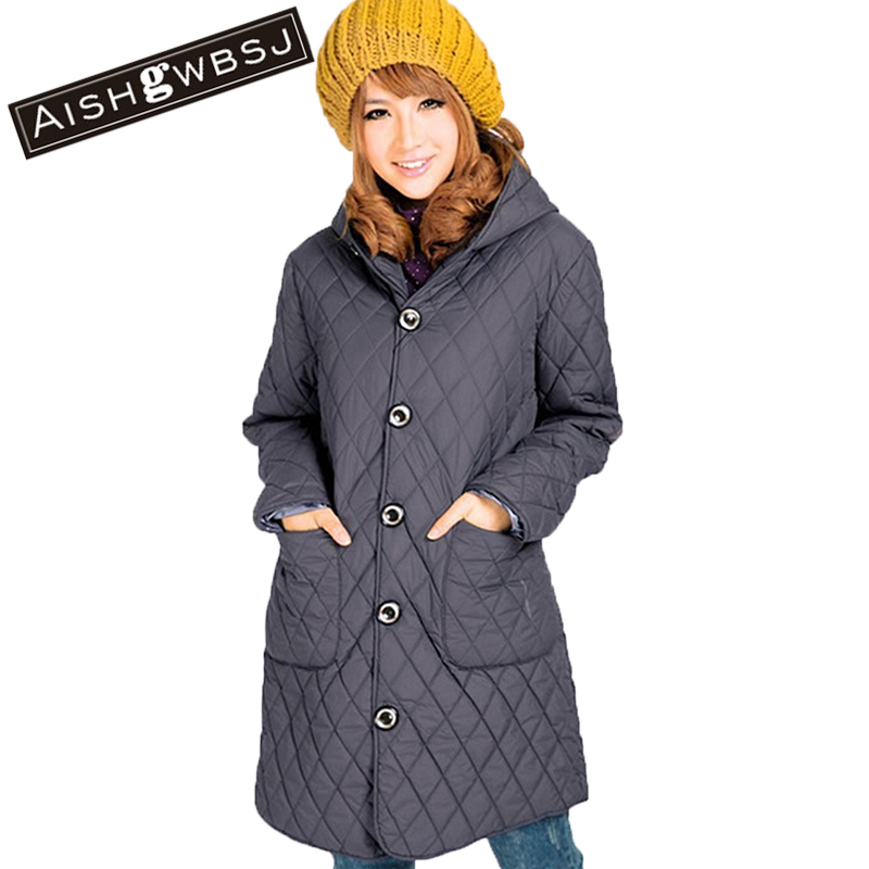 AISHGWBS Winter Korean Women Thick Loose Plus Size Cotton Coat New Solid Full Sleeve Hooded Collar Jacket Causal Outerwear YJ899 hooded collar korean new 2014 winter clothing full sleeve solid down jacket slim women casual cotton padded coat ly1066
