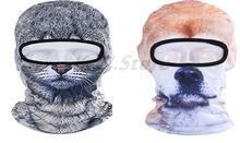 Fashion 3D Animal Cute Novelty Cycling Motorcycle Full Mask Wind Cap Women Men Hood Balaclava Breathable Wicking Hat