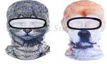 Fashion 3d Animal Cute Novelty Cycling Motorcycle Full Mask Wind Cap Women Men Hood Balaclava Breathable