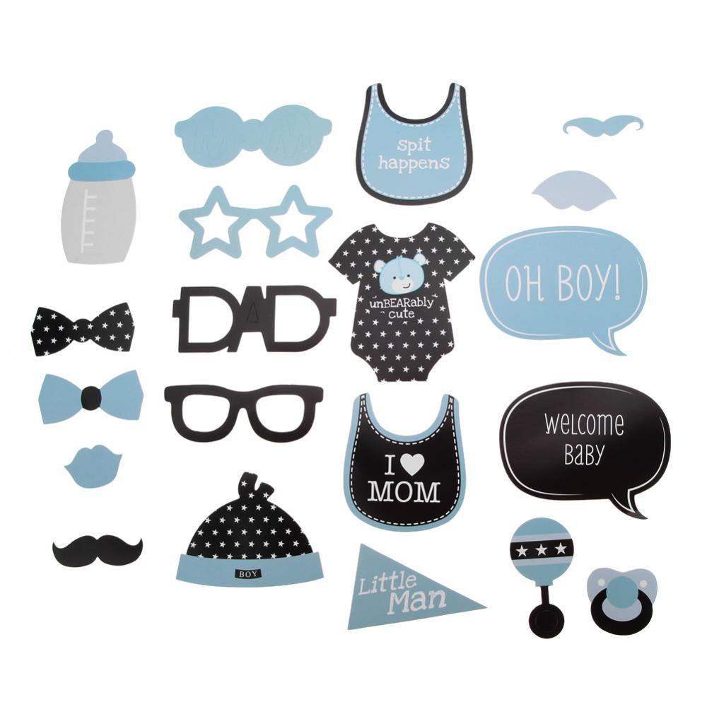 20 piezas DIY máscara foto Booth Props bigote gafas bebé chica ...