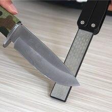 Afilador de cuchillos plegable de diamante, doble cara, trituración de piedra de afilar rueda para cocina al aire libre, herramientas de reparación afiladas
