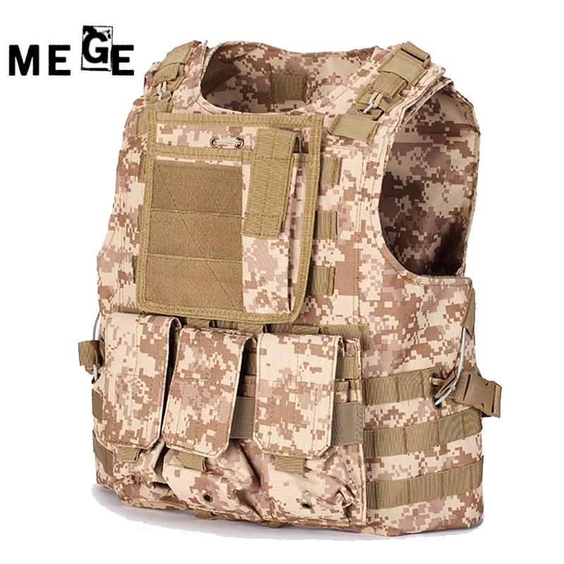 MEGE Tactical Vest 14 Colors, Military SWAT CS Equipment, Multicam Typhon Molle Vest, 600D Oxford Colete Tatico Hunting Vest