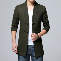 2018 New Chinese Style Black Retro Youth Men S Long Sleeve Jackets S M L XL
