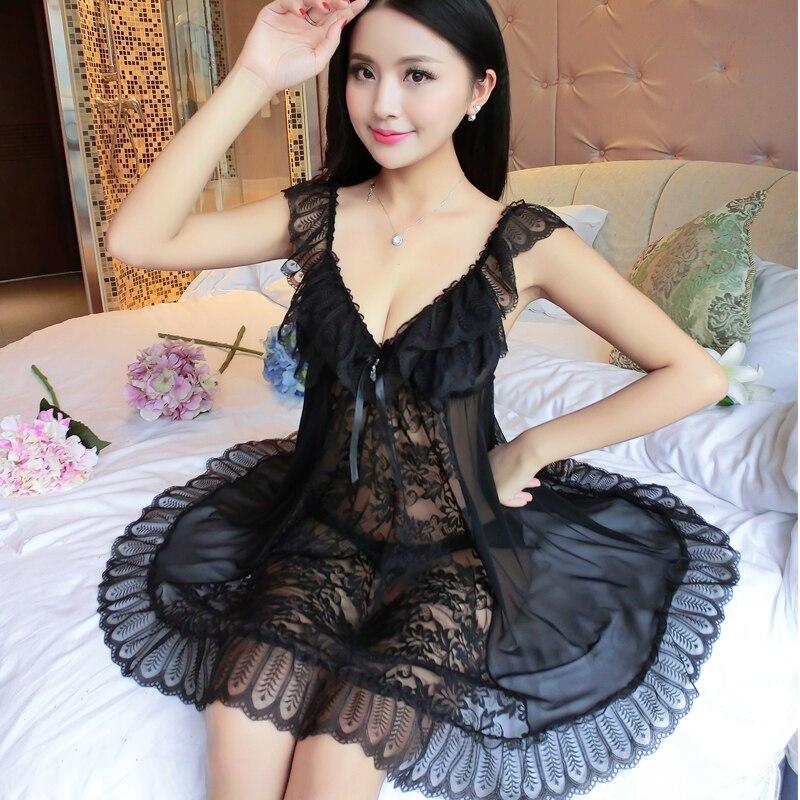 Hot Ruffle Sexy Lace Bathrobe Women Backless Robe Homewear Dress Nightdress Sleepwear Straps Outside Sleepwear Nightgowns Robe