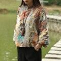 2016 Новая Весна Пальто Женщины Блузка Девять Очков Рукав Blusas Для Леди Рубашка Традиционный Китайский Одежда Хлопок Белье Топы Blusa