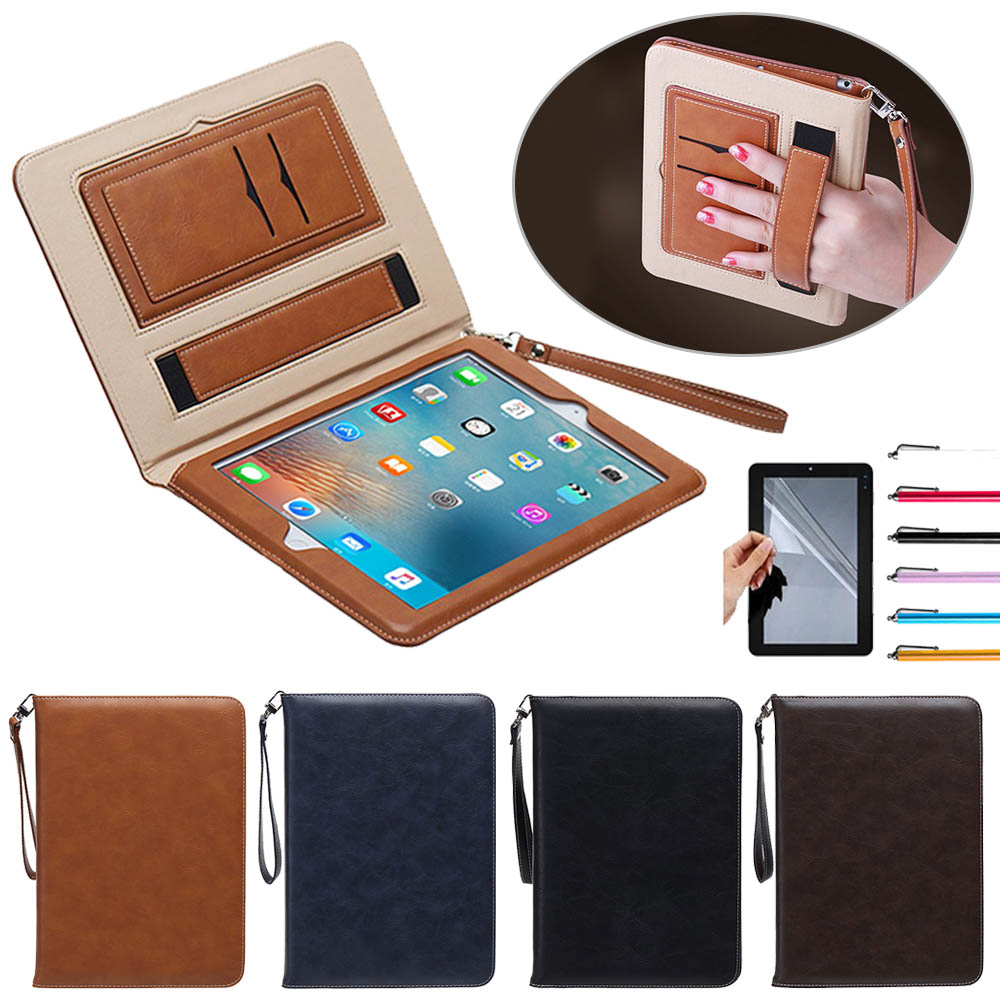9.7Luxury PU Leather Case for Air 1 2  Retro Briefcase Auto Wake Up Sleep Hand Belt Holder Stand Bags Cover for iPad 5 / iPad 6 case for funda ipad pro 12 9 luxury business leather case tablet 12 9 inch wake up hand belt holder stand flip bags alabasta