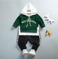 New Children Clothing Baby Boy Spring Autumn Long Sleeves Clothing Set T Shirt Pants 2 Pcs