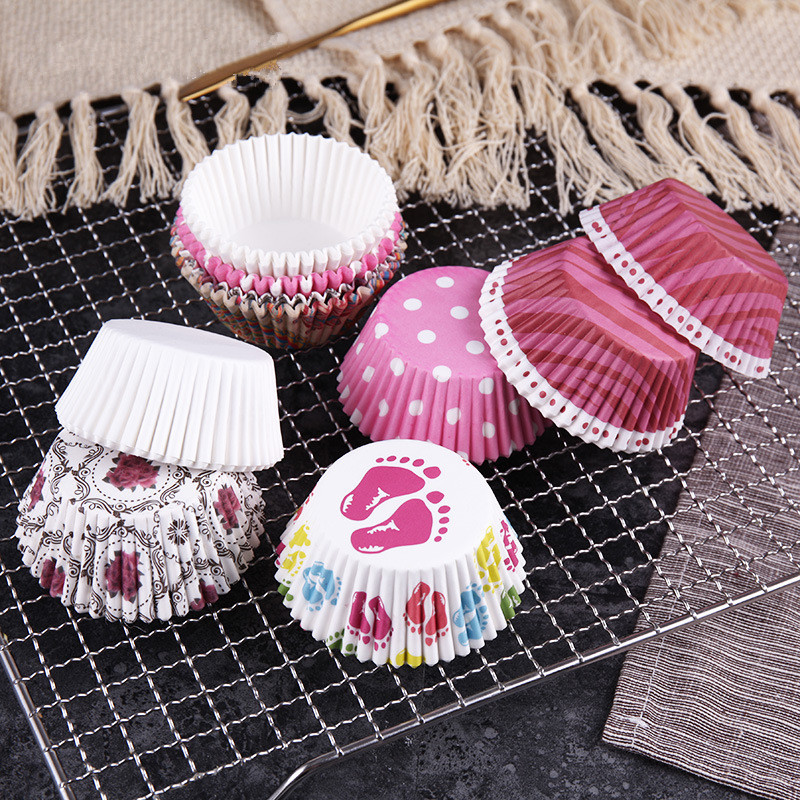 Case Decorating-Tools Cake-Mold Muffin-Box Paper-Cake Party-Tray Baking 100pcs Cup Colorful