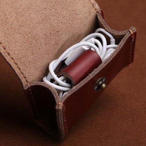 Vintage Coin Bag Man Women Genuine Leather Handmade Fashion 2018 Coin Purses Wallet Headphones Key Holder Pocket Bag Case Multan