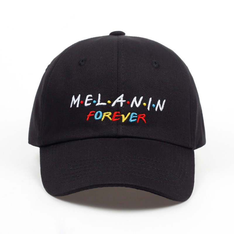 2018 new arrival MELANIN forever letter embroidery   baseball     cap   women snapback hat adjustable men fashion Dad hats wholesale