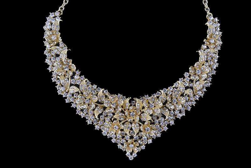 Crystal women wedding jewelry sets golden plated flower deisgn Bridal party necklace earrings set AB crystal jewelry accessories 29