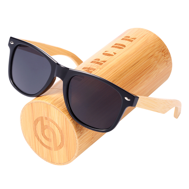 42f7de4ee5801 BARCUR Wood Sunglasses Spring Hinge Handmade Bamboo Sunglasses Men Wooden  Sun glasses Women Polarized Oculos de