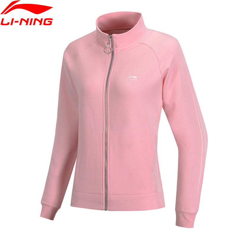 Li Ning Women The Trend Sports Sweater Loose Fit 70 Cotton 30 Polyester LiNing Fitness Sport