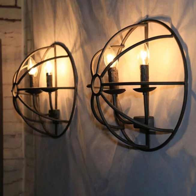 led 27 Loft Iron Candle LED Lamp LED Light Wall lamp Wall Light Wall Sconce For Bar Store Foyer Bedroom Corridor Lobby led e14 american iron fabric led lamp led light wall lamp wall light for bar store foyer bedroom corridor lobby