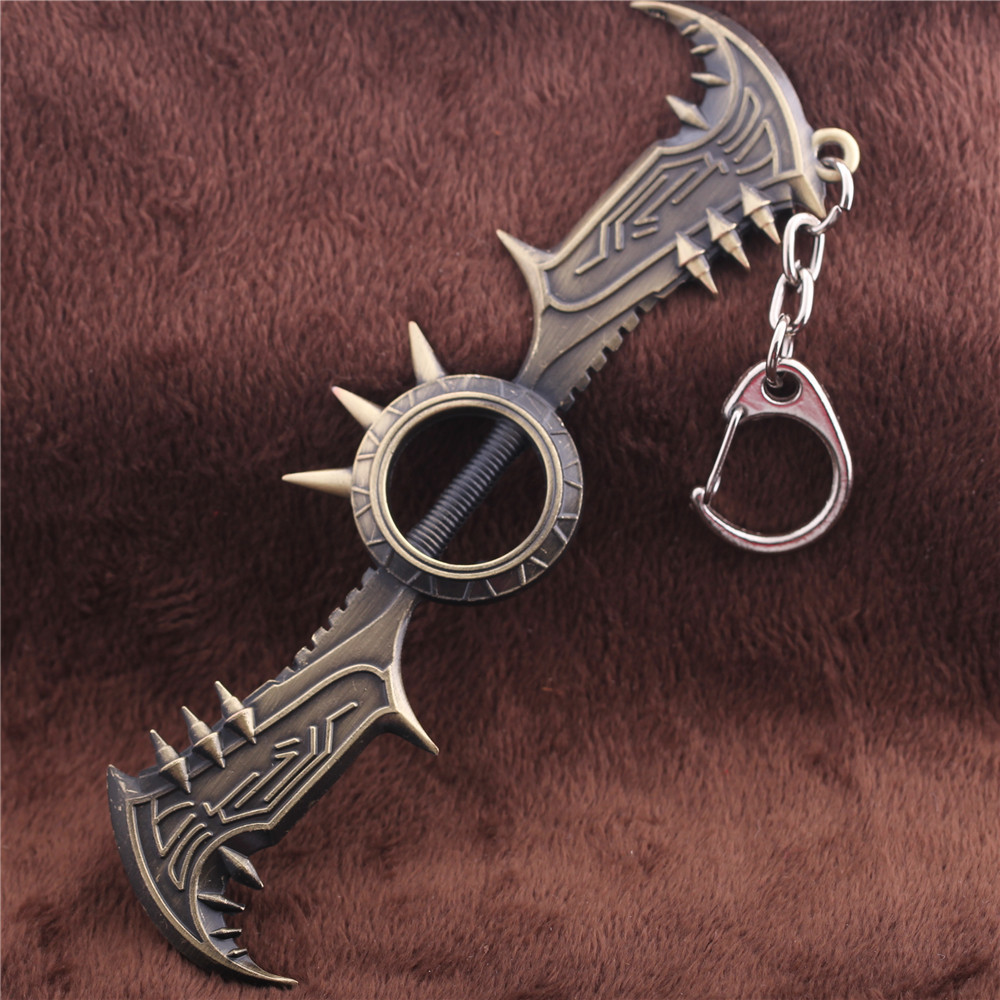 Free Shipping League Of Legends Keychain Game LOL Draven Glory Execution  Officer Weapon Axe Metal Pendant Key Ring Keychain 7f1a292781