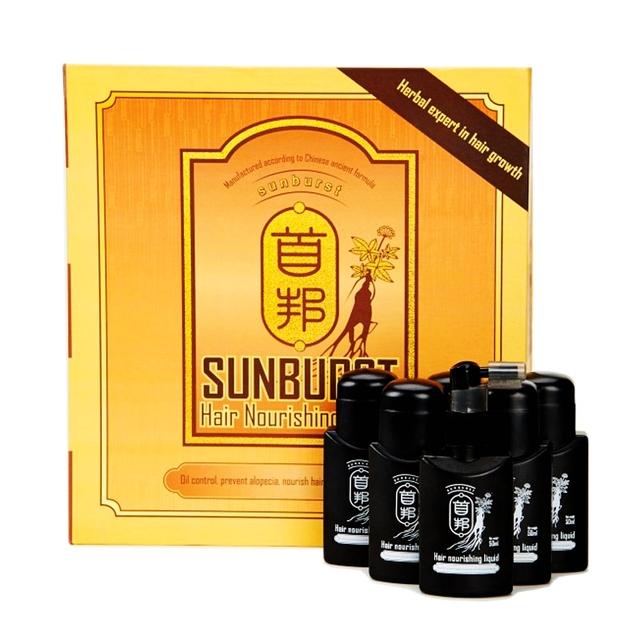 El Cuidado del cabello Pérdida Herbal Original 6*50 ml crecimiento del cabello sunburst Adicional Pelo Denso Inglés Árabe champú pérdida de cabello productos