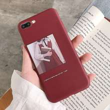 TPU Case Fashion Girl Cover For iPhone XS X XR Xs Max 7 Plus 8 Cases Personality Red 6 6S