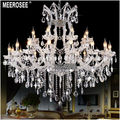 24 Lights Massive Clear Chandeliers Crystal Clear Vintage chrystal chandelier Hotel Lighting Pendelleuchte lamp for Home decor