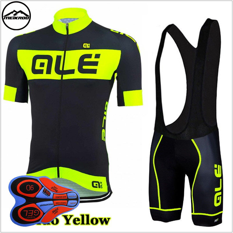 Fluorescent color Ale cycling jersey sets pro team cycling clothing short sleeve mtb jersey set/kits cycling bib shorts/9d pad xintown 2018 cycling jersey clothing set summer outdoor sport cycling jersey set sports wear short sleeve jersey shorts men sets