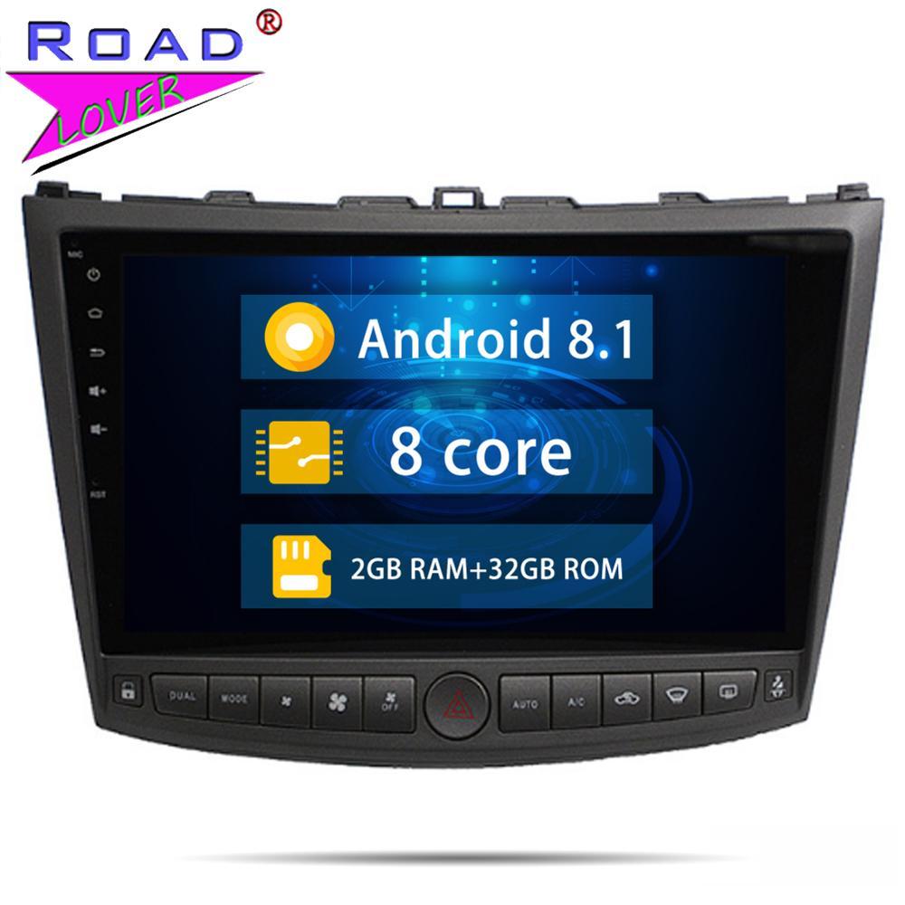 Unidade de cabeça Android 8.1 Octa Núcleo de Rádio Do Carro DVD Player Para Lexus IS250 IS300 2005-2011 Navegação GPS Estéreo 2 Din Áudio Autoradio