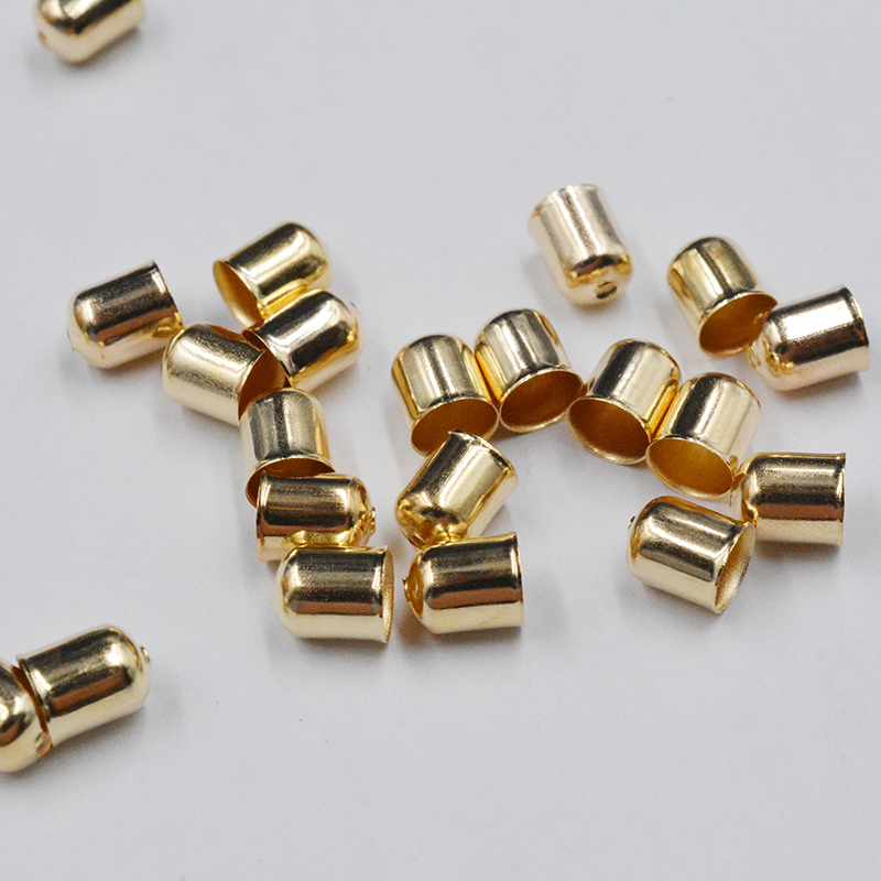 FLTMRH 30pcs 6mm*5mm silver color Gold Plated Flower petal End Spacer Beads Caps Charms Bead Cups For Jewelry Making(yiwu)