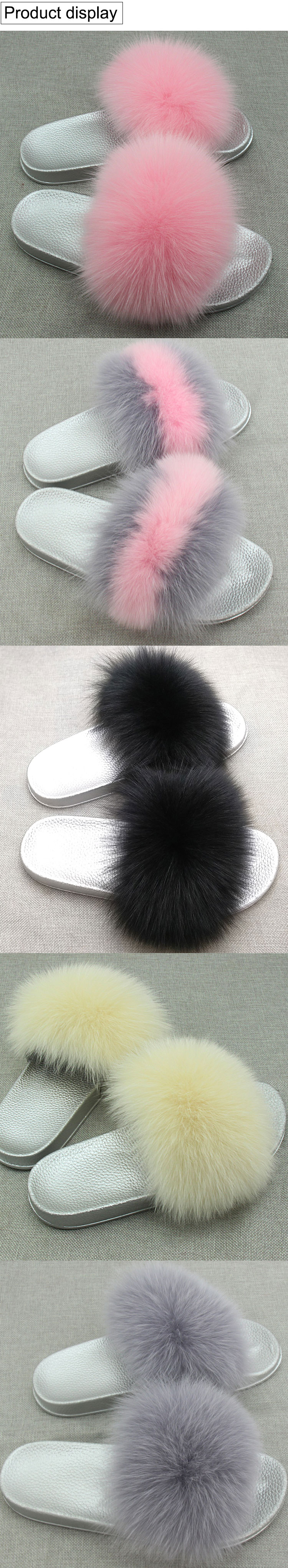 real luxo menina praia sandália sapatos macio confortável peludo flip flops