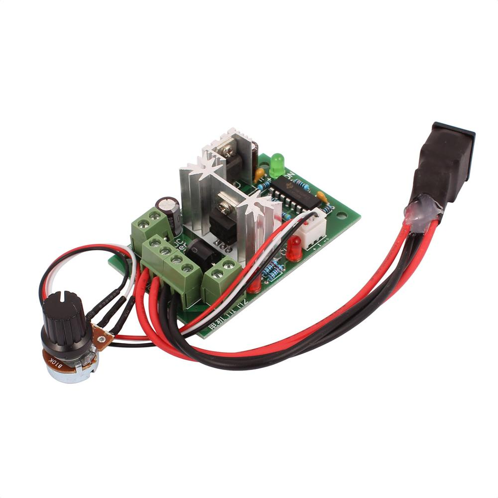 PWM 120W 10V 12V 24V 30V Adjustable DC Motor Speed Controller Regulator Forward Reversing Switch with Potentiometer