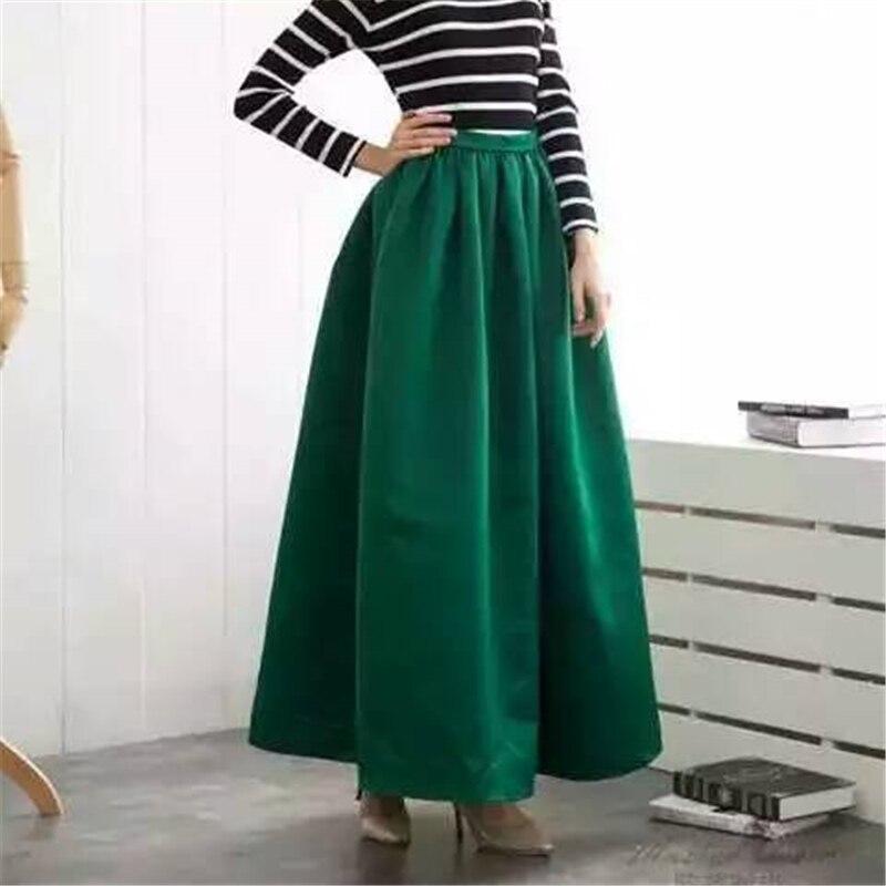 Neophil New 2019 Muslim Womens Maxi Long Skirts Bohemian Vintage 100cm High Waist Ball Gown Black Floor Length Longa Saia MS1630