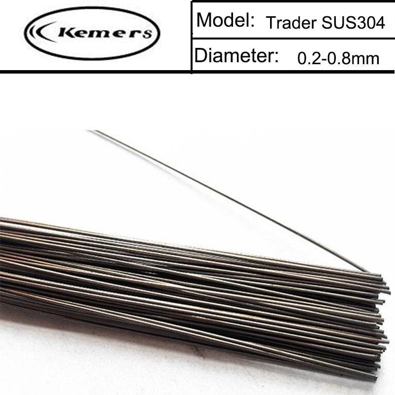 1KG/Pack Kemers Trader Mould welding wire SUS304 repairmold welding wire for Welders (0.8/1.0/1.2/2.0mm) S012020 professional welding wire feeder 24v wire feed assembly 0 8 1 0mm 03 04 detault wire feeder mig mag welding machine ssj 18