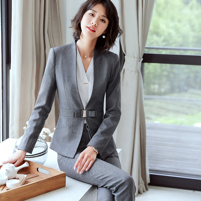 Suits & Sets Analytical Notched Wear Female Suits Blazer Casual Slim Long Sleeve Single Button Blazers White Blue Work Formal Jackets Blazer Feminino
